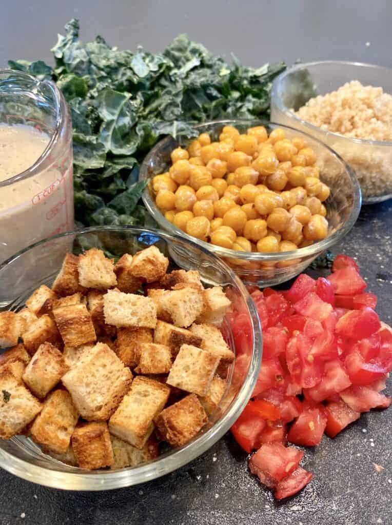 kale Ceasar salad ingredients