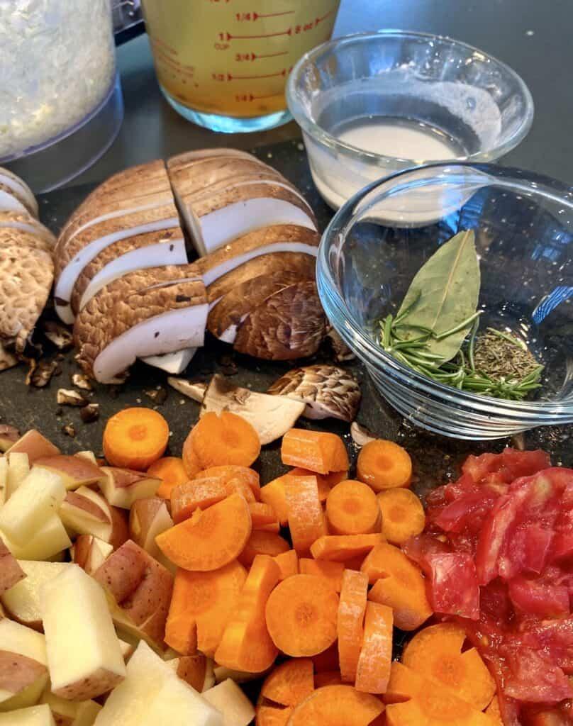 vegetables for the vegetarian pot roast recipe