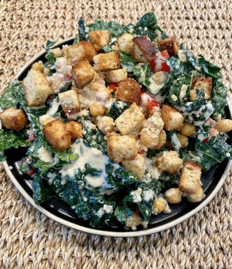 Kale Caesar Salad with Qunoa