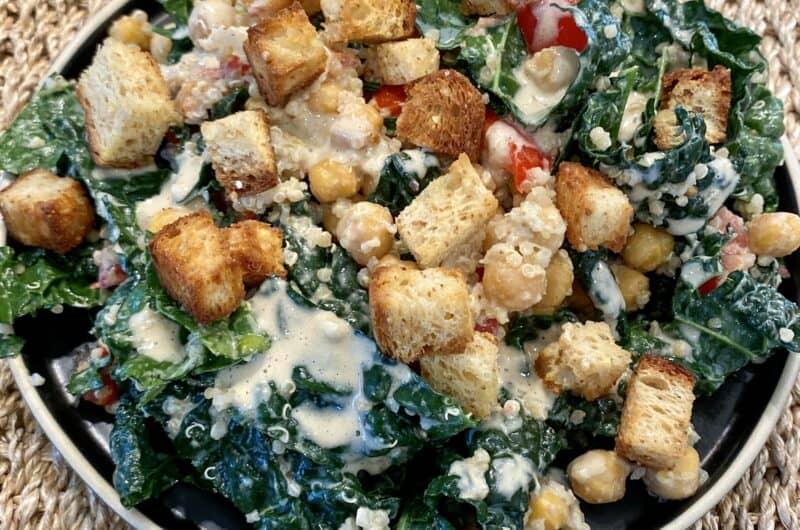 Kale Caesar Salad with Quinoa