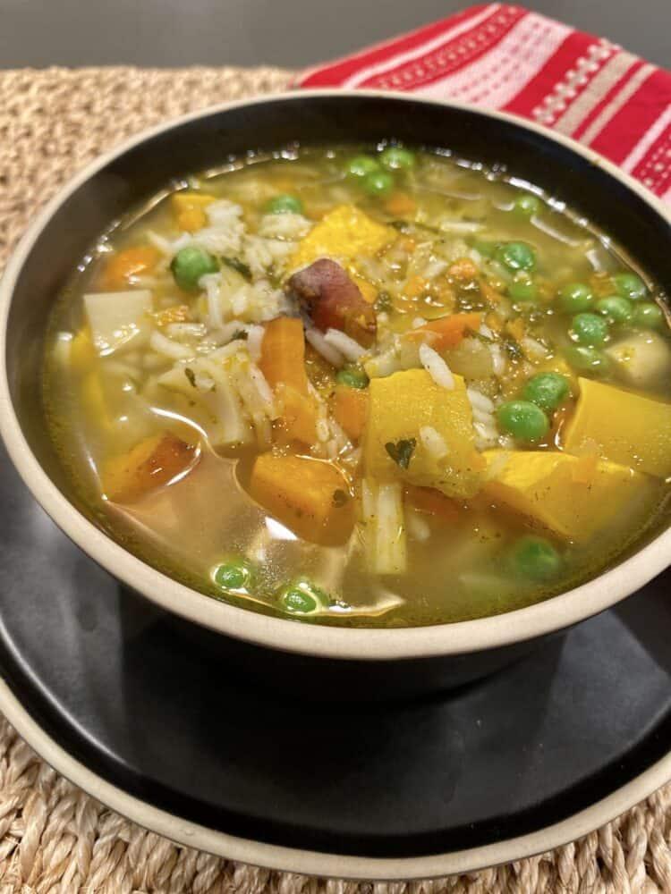 Chick-un Rice Vegetable Soup
