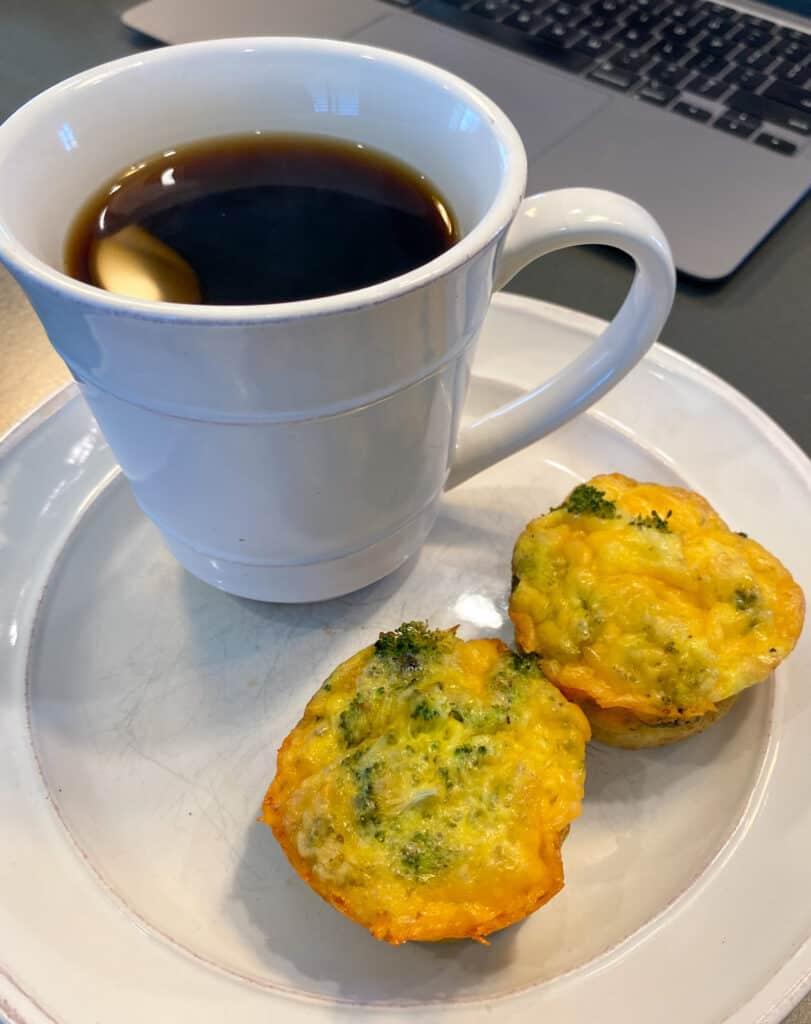 broccoli, cheddar cheese, egg muffins