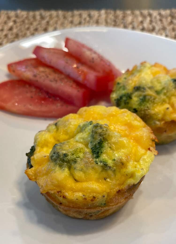 Broccoli Cheddar Cheese Egg Muffin
