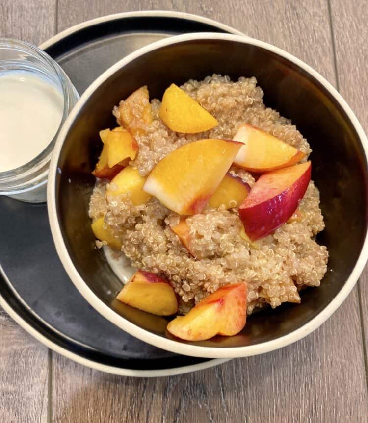 Nactarines and Cream Quinoa