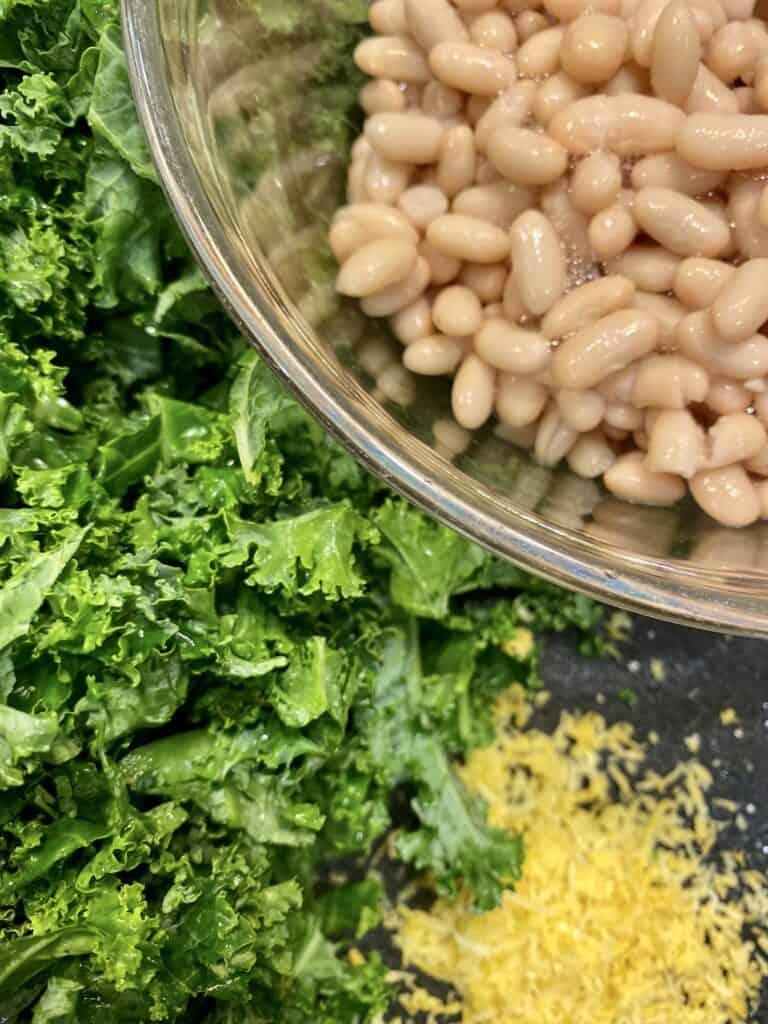 White Beans, Kale, Lemon Zest