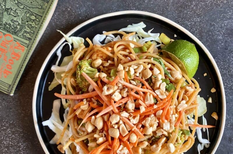 Vegetable Pad Thai with Fried Tofu