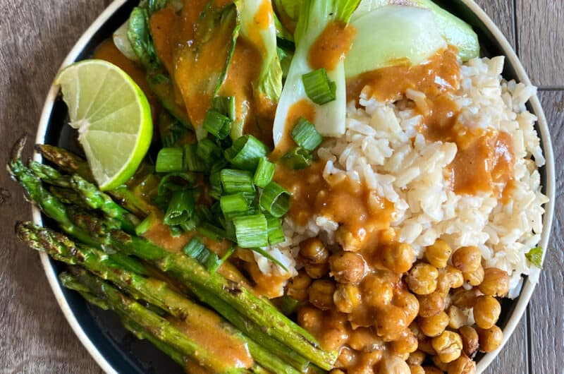 Grilled Veggie Plate with Curry Lime Sauce