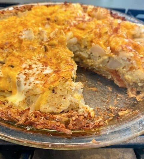 Cauliflower Pie with Grated Potato Crust