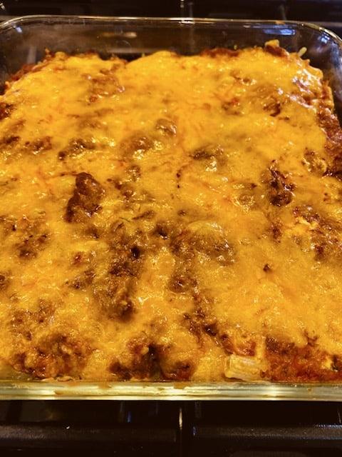 4 layer pasta bake