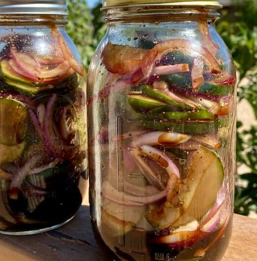 Cucumber, Red Onion Salad (in Balsamic Dressing)