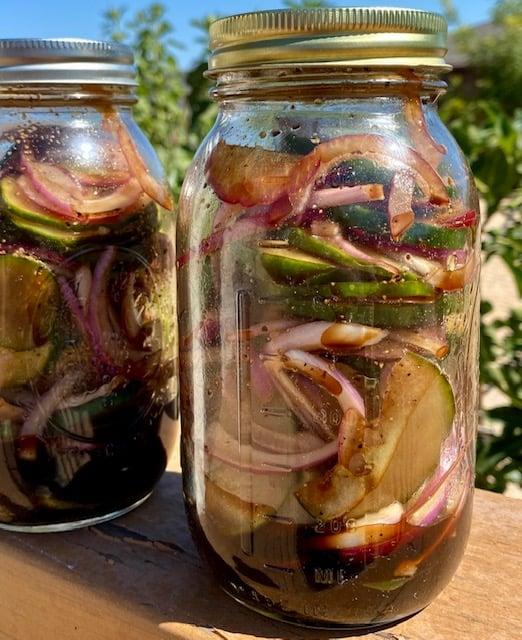 Cucumber, Red Onion Salad